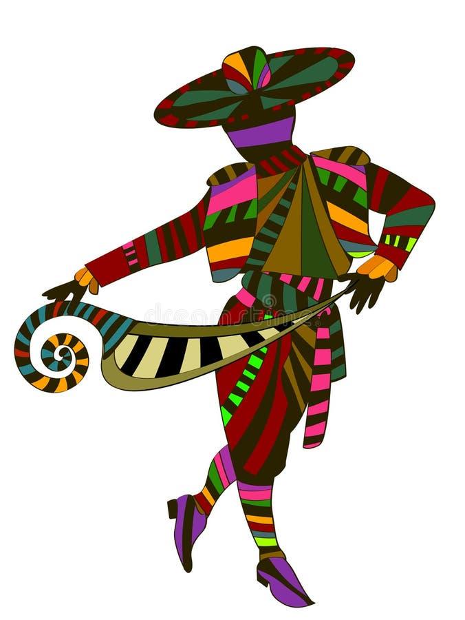 Etnische dans royalty-vrije illustratie