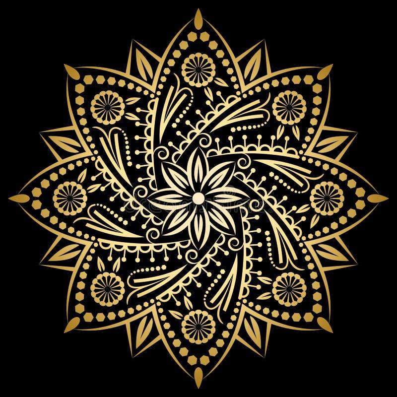 Etnische decoratieve elementen royalty-vrije illustratie