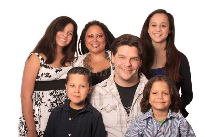 Etnische Familie stock afbeeldingen