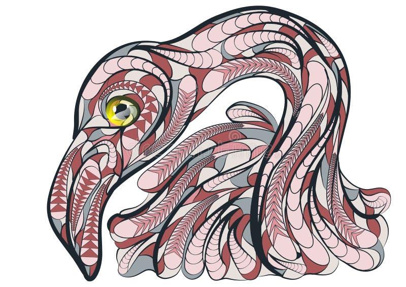Etnische flamingo royalty-vrije illustratie