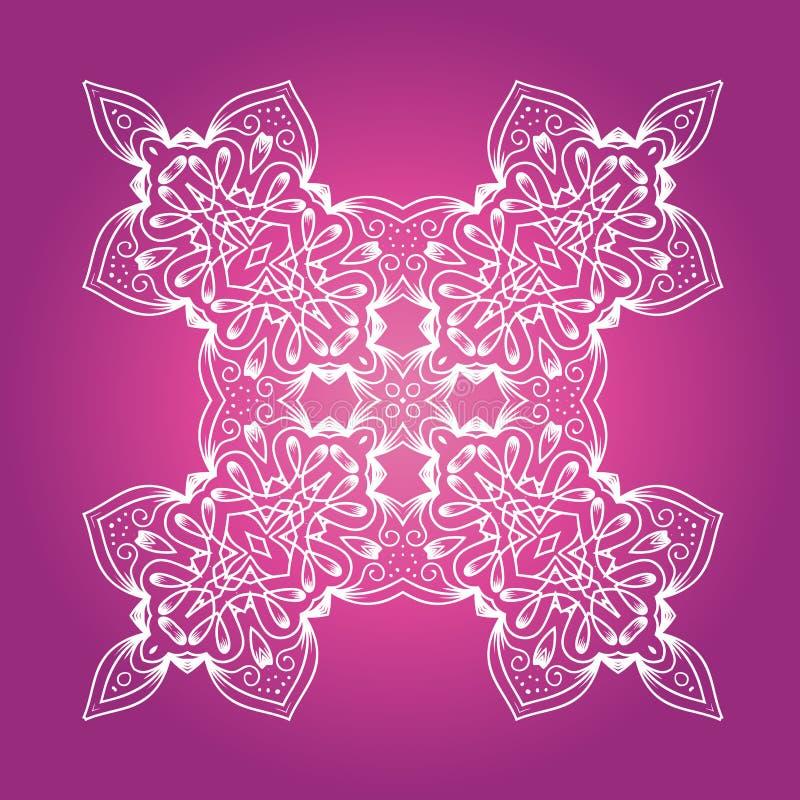 Etnische Fractal Meditatie Mandala Vector royalty-vrije illustratie