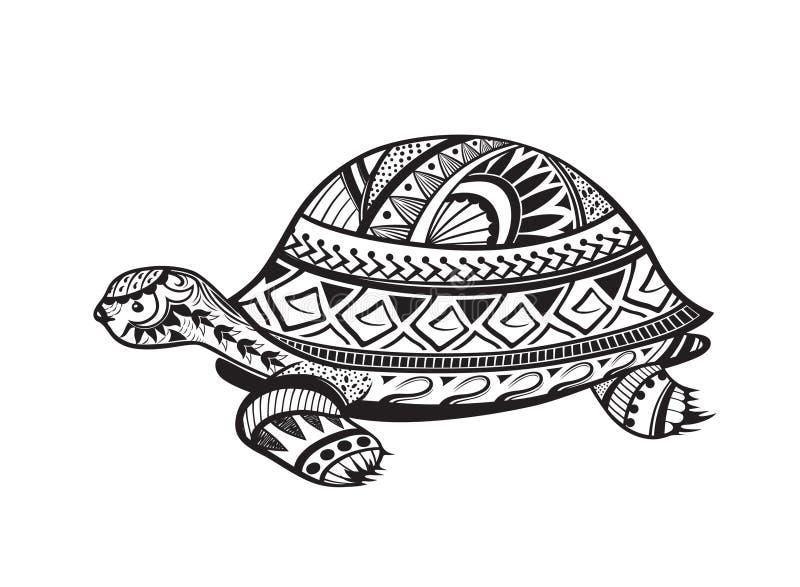 Etnische gesierde schildpad stock illustratie
