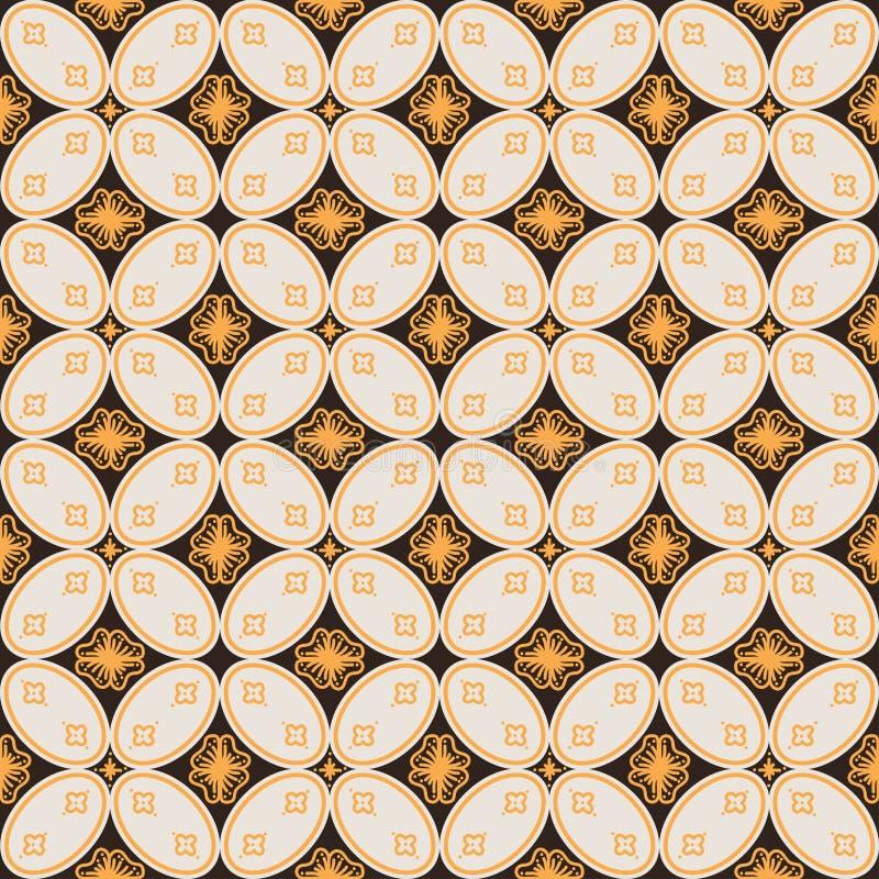 Etnische Indonesische batikachtergrond met geometrische vormen royalty-vrije illustratie