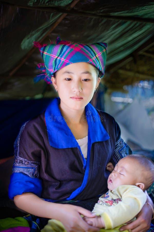 Etnische meisjes Hmong stock foto