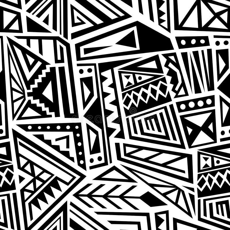 Etnische naadloze vector vector illustratie