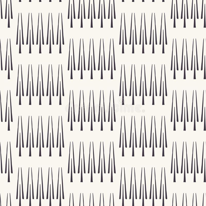 Etnische rij van scandistijl van het bomenmotief Vector naadloos patroon Het volks textielmonster van de kunst geometrische aard  vector illustratie