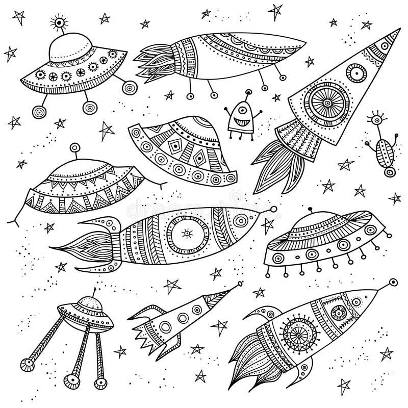 Etnische sier geplaatste raketten royalty-vrije illustratie