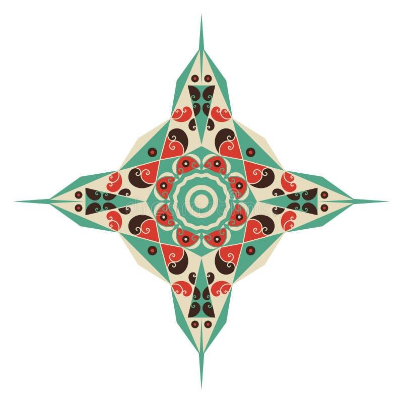 Etnische ster stock illustratie