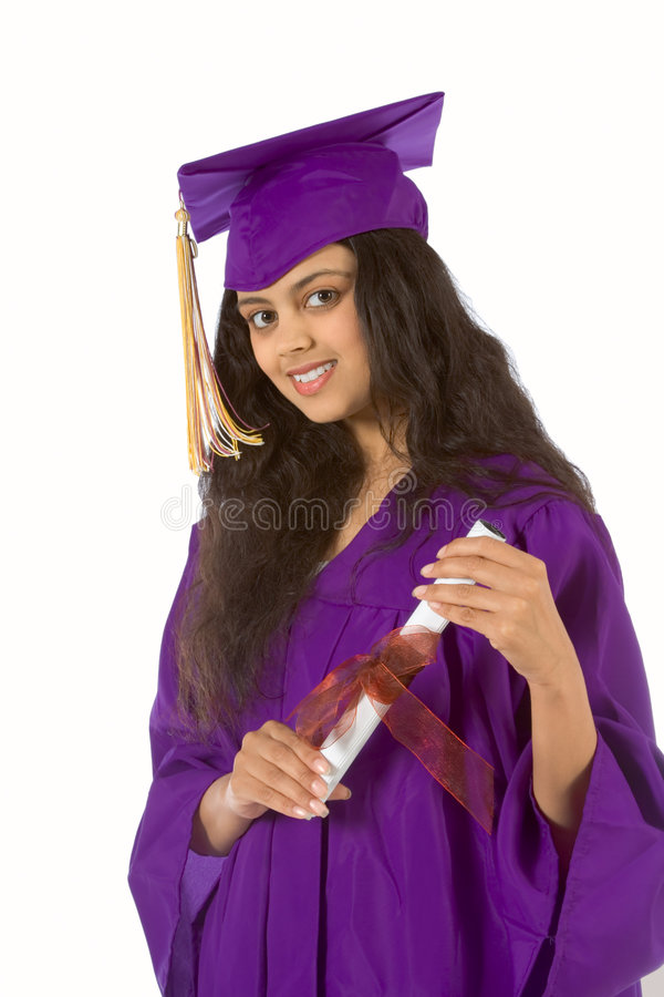 etnisk avläggande av examendeltagare royaltyfria foton
