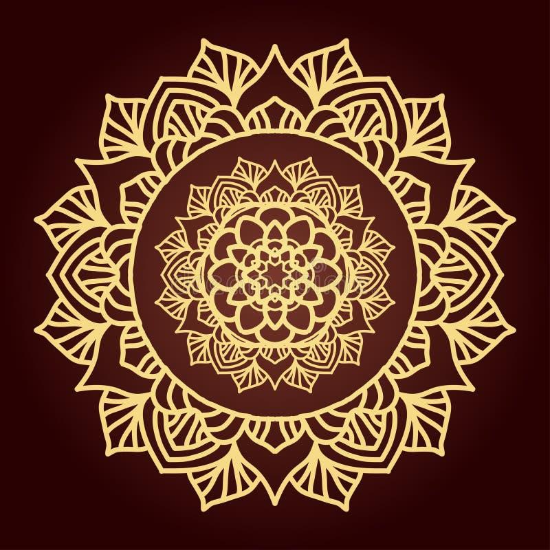 Etnisk dekorativ beståndsdel vektor illustrationer