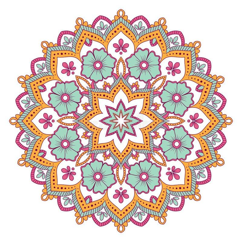 Download Etnisk dekorativ mandala vektor illustrationer. Illustration av översikt - 106826529