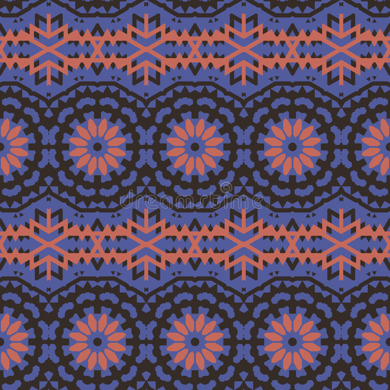 Etnisk färgrik bohemisk modell för vektor royaltyfri illustrationer