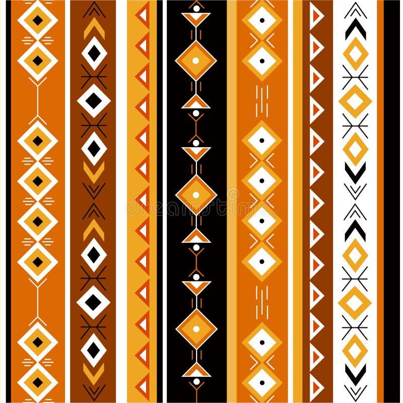 Etnisk färgrik sömlös modell vektor illustrationer