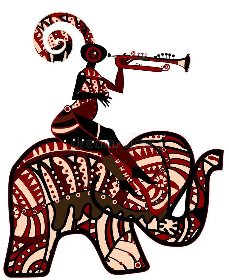etnisk festival vektor illustrationer