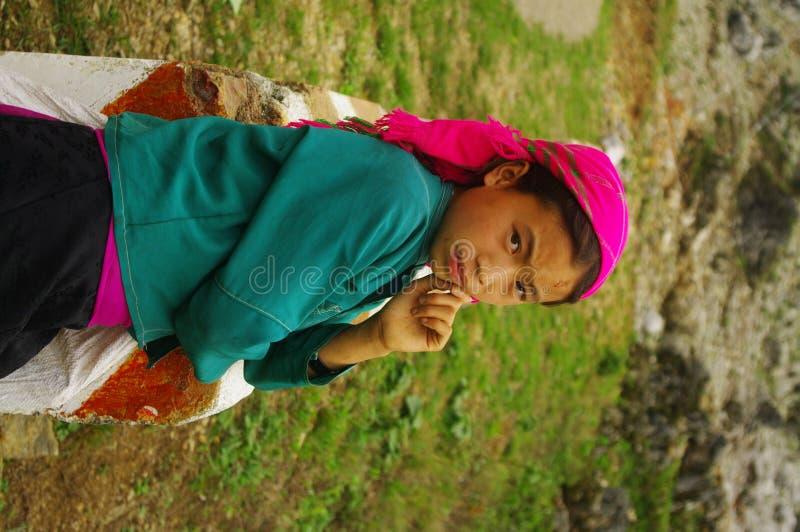 etnisk flickahmongwhite royaltyfria foton