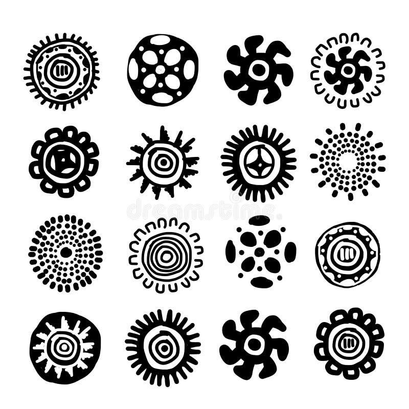 Etnisk handgjord prydnad för din design royaltyfri illustrationer