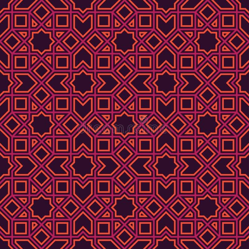 Etnisk linje islamisk modell royaltyfria foton