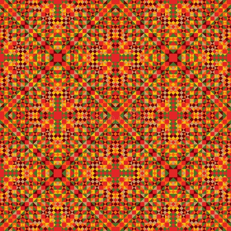 Etnisk modell för tyg Dekorativ abstrakt geometrisk färgrik sömlös modell Mexicansk design stock illustrationer