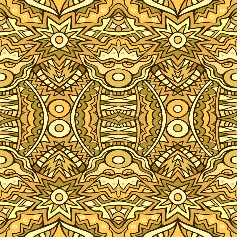 Etnisk modell i guld- färger stock illustrationer