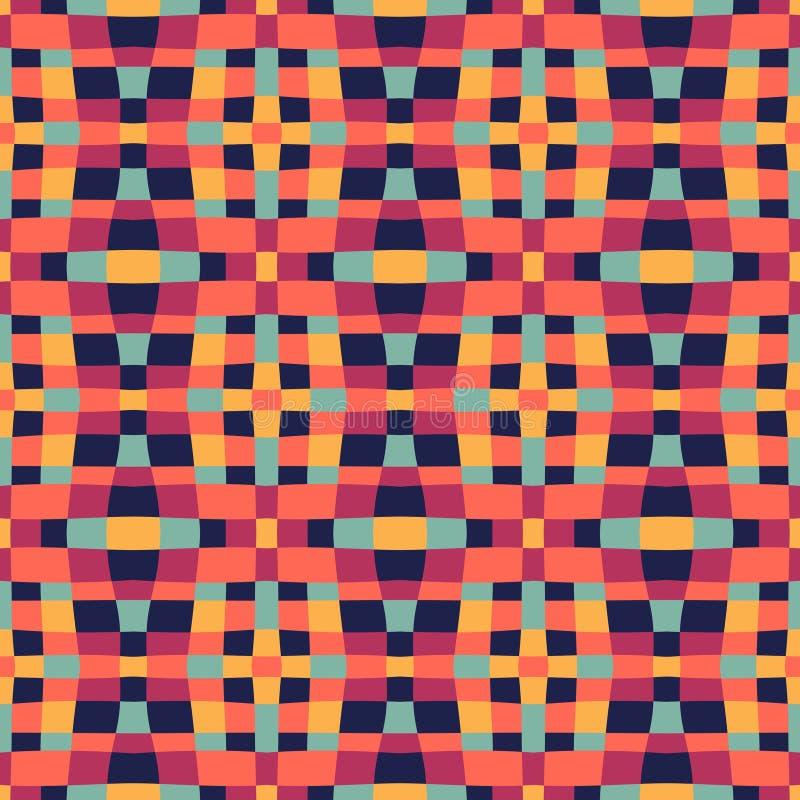 Etnisk modern geometrisk seamless modellprydnad stock illustrationer