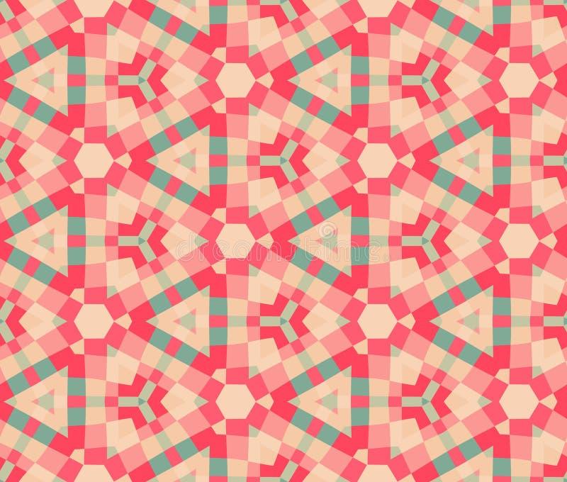 Etnisk modern geometrisk seamless modellprydnad royaltyfri illustrationer