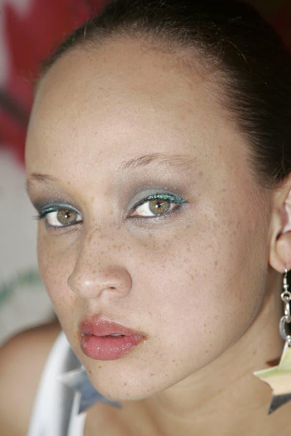 etnisk nätt kvinna royaltyfri bild