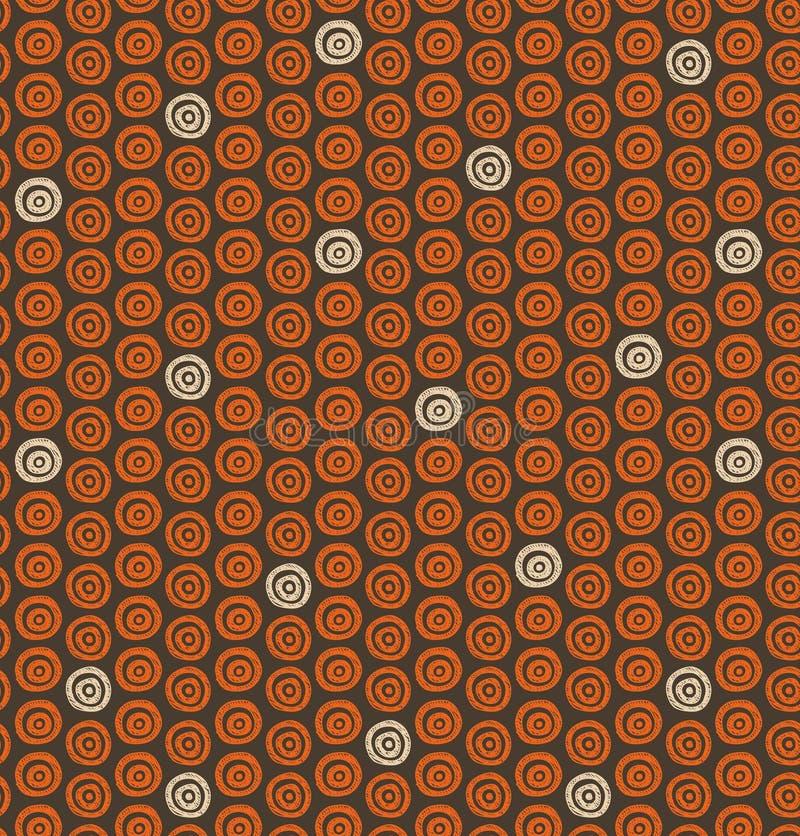 Etnisk naturlig modell med cirklar Dekorativ infödd bakgrund vektor illustrationer