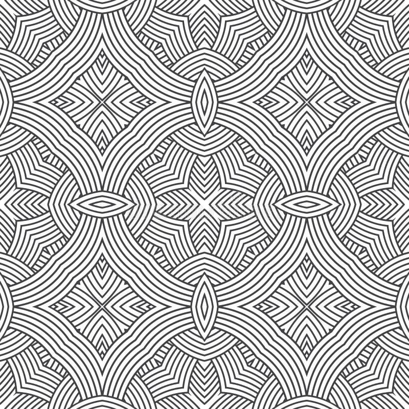 Etnisk sömlös design för modellprydnadtryck stock illustrationer