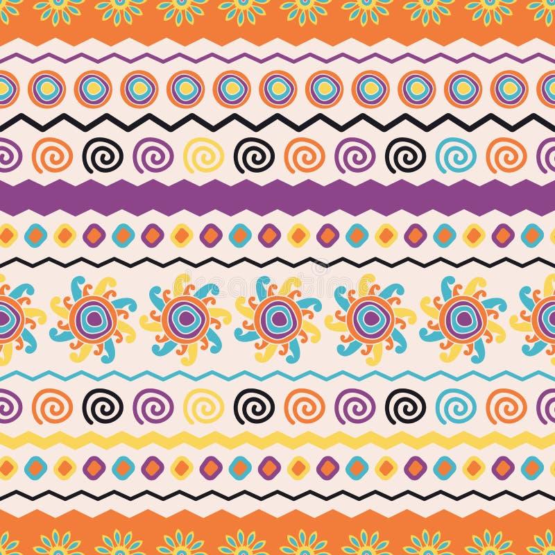 Etnisk sömlös modell för abstrakt vektor Bruk för tapeten, patt stock illustrationer