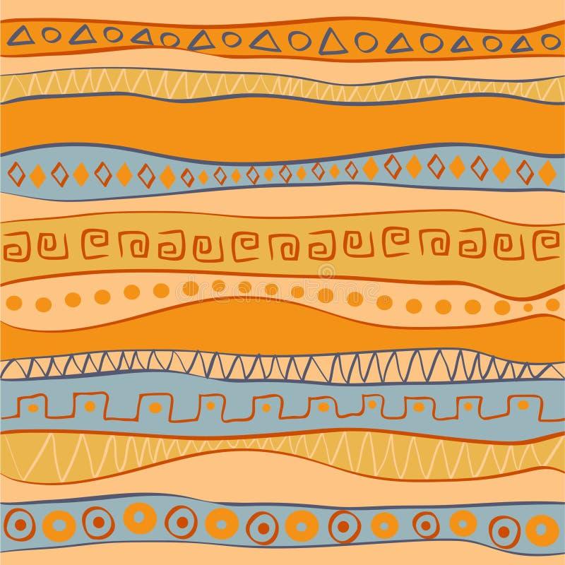 etnisk seamless stil för forntida backround royaltyfri illustrationer