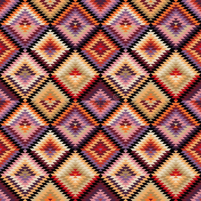 Etnisk stam- sömlös modell vektor illustrationer