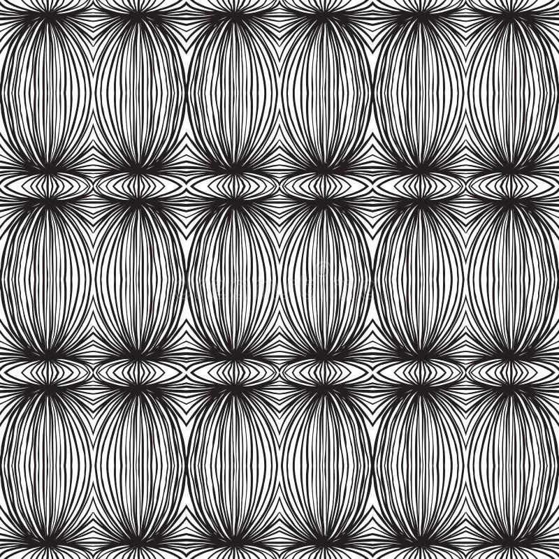 Etniska svartvita linjära mönstrar vektor illustrationer