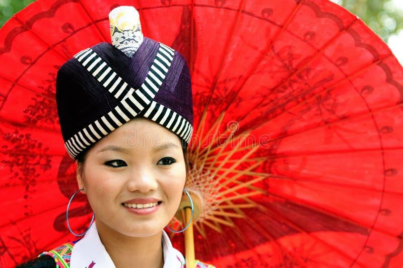 Etniskt folk i Laos royaltyfri foto