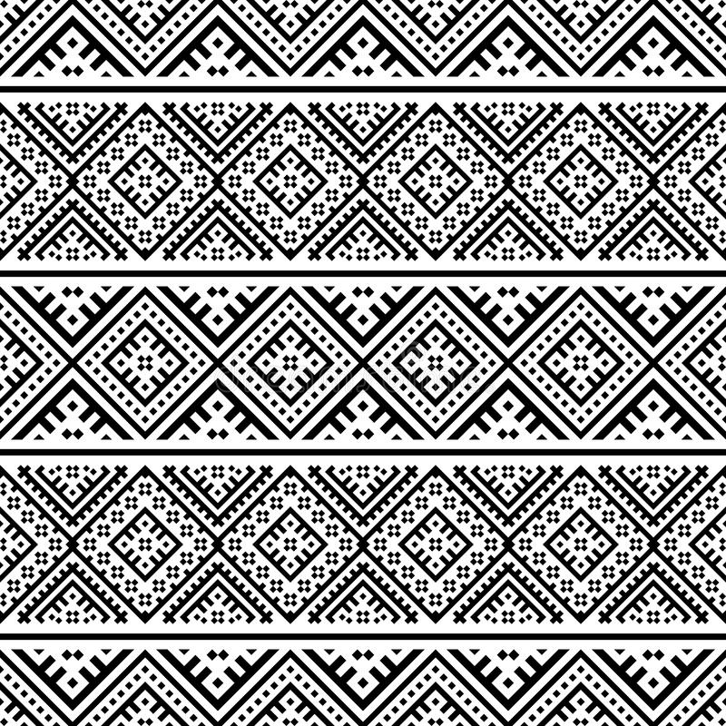 Etniskt mönster i geometriska stammen Illustration av Seamless Ethnic Pattern Vector vektor illustrationer