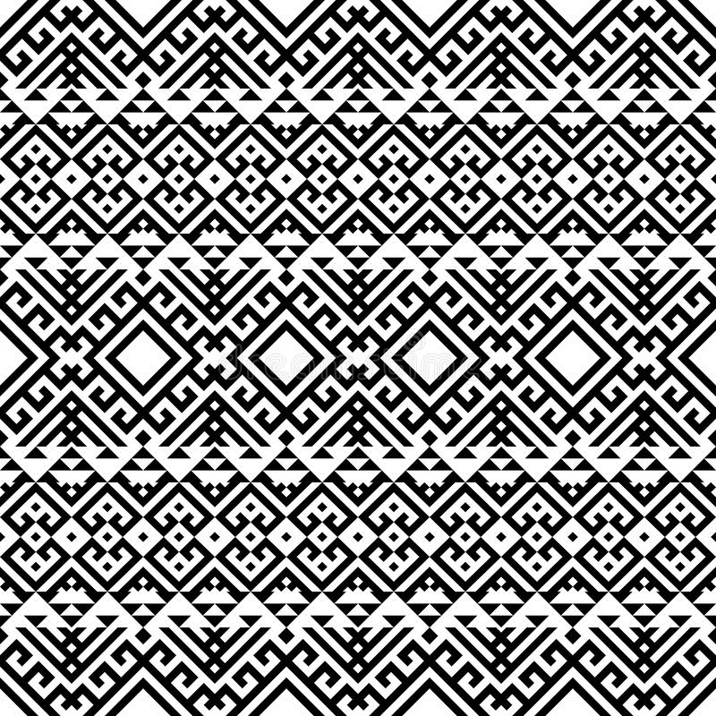 Etniskt mönster i geometriska stammen Illustration av Seamless Ethnic Pattern Vector stock illustrationer