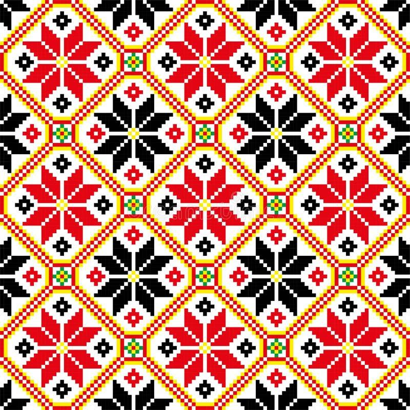Etno ornamet 乌克兰vyshyvka 乌克兰装饰品 皇族释放例证