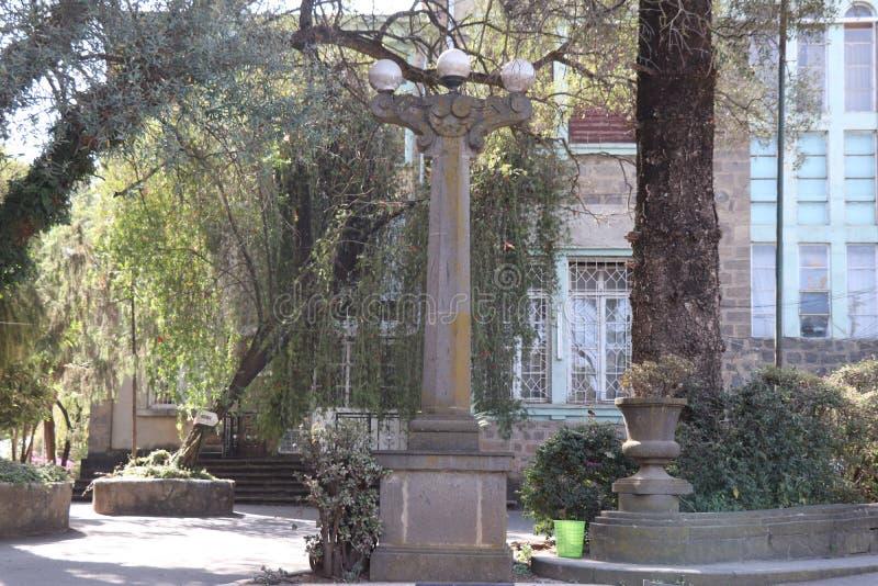 Etnograficzny Muzealny Addis Ababa uniwersytet, poprzedni pałac Haile Selassie Ja zdjęcie stock