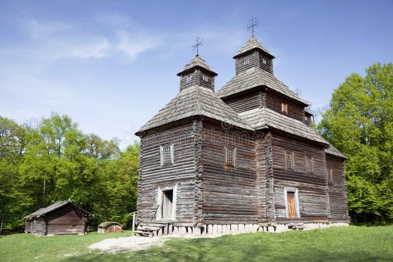 Etnografisch Museum van architectuur en het leven in Pirogovo, Kiev stock afbeeldingen