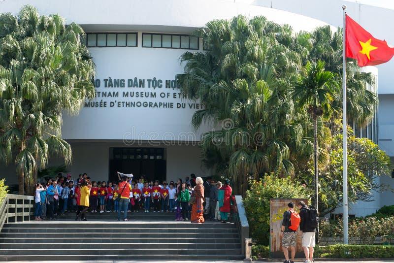 Etnologimuseum, Hanoi, Vietnam lopp fotografering för bildbyråer