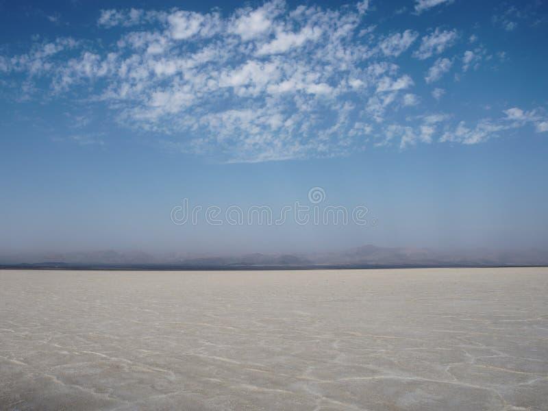 Etopia seco do danakil da sobremesa de sal imagem de stock royalty free