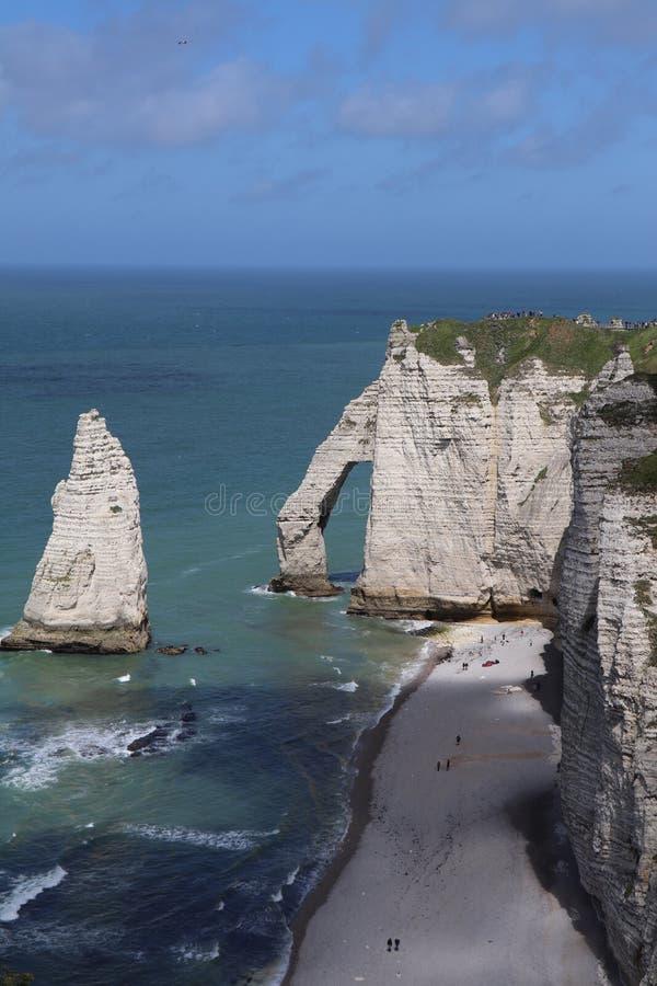 Etretat峭壁在法国 免版税图库摄影