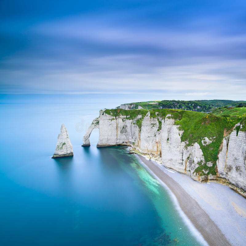 Download Etretat Aval Cliff And Rocks Landmark And Ocean . Normandy, France. Stock Photo - Image: 31860500
