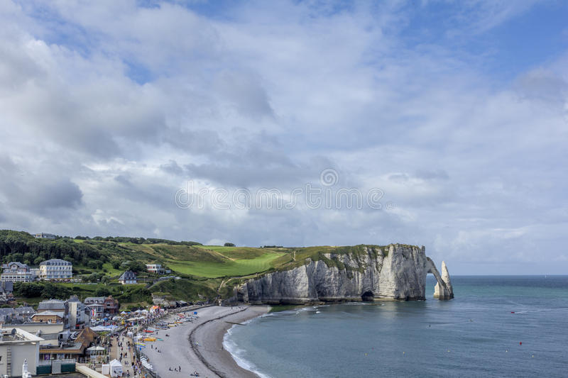 Etretat Beach In Normandy France France Royalty Free Stock Images