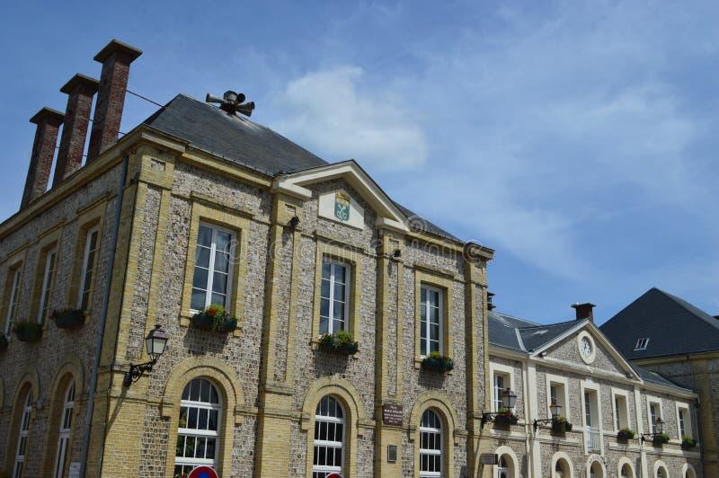 Etretat i Fecamp, Frankrike arkivbild
