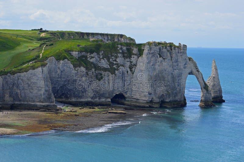 Etretat i Frankrike fotografering för bildbyråer