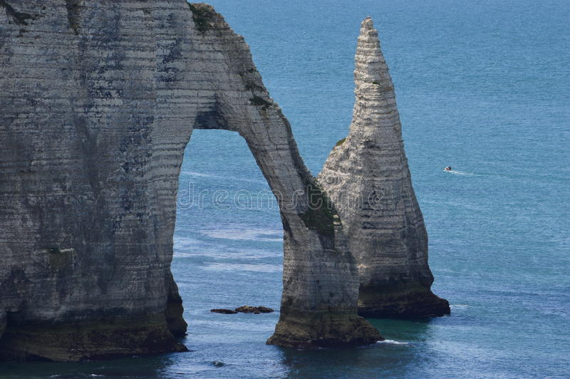 Etretat i Frankrike arkivbilder