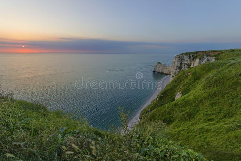 Etretat krajobraz fotografia stock