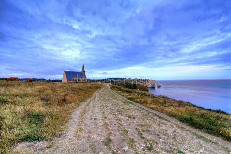 Etretat, Normandy stock images