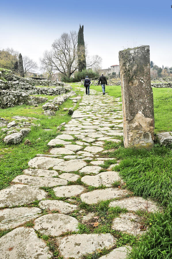 etruscan μονοπάτι στοκ φωτογραφία