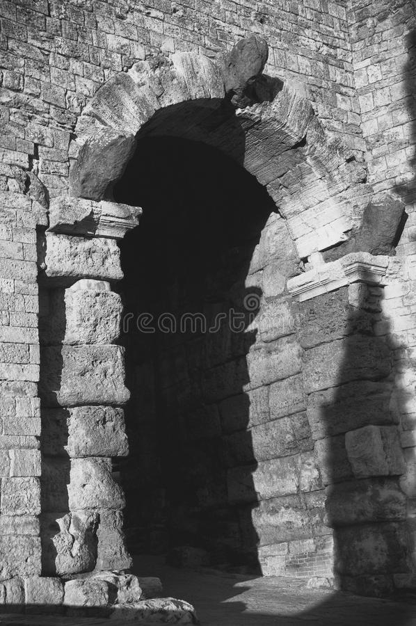 Etruscan Arch royalty free stock photo